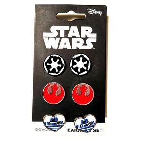Disney Star Wars pierced earrings set